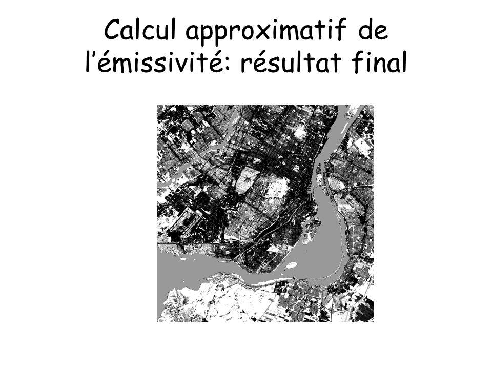 Calcul approximatif de lémissivité: résultat final