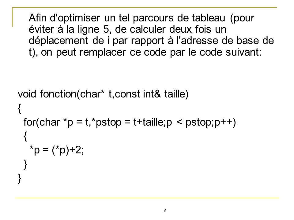 7 vector ::iterator i; Pour que cette itérateur pointe sur le premier élément d une liste donnée, on utilise la méthode begin() de ce vecteur comme ci- dessous: vector v; vector ::iterator i = v.begin();