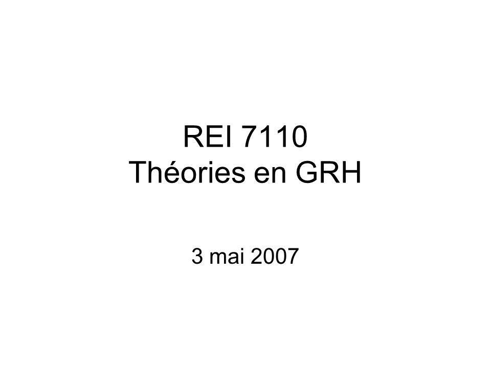 REI 7110 Théories en GRH 3 mai 2007