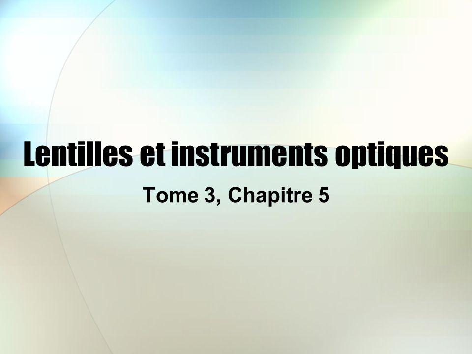 Lentilles et instruments optiques Tome 3, Chapitre 5