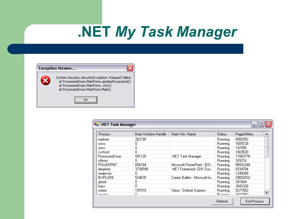 .NET My Task Manager