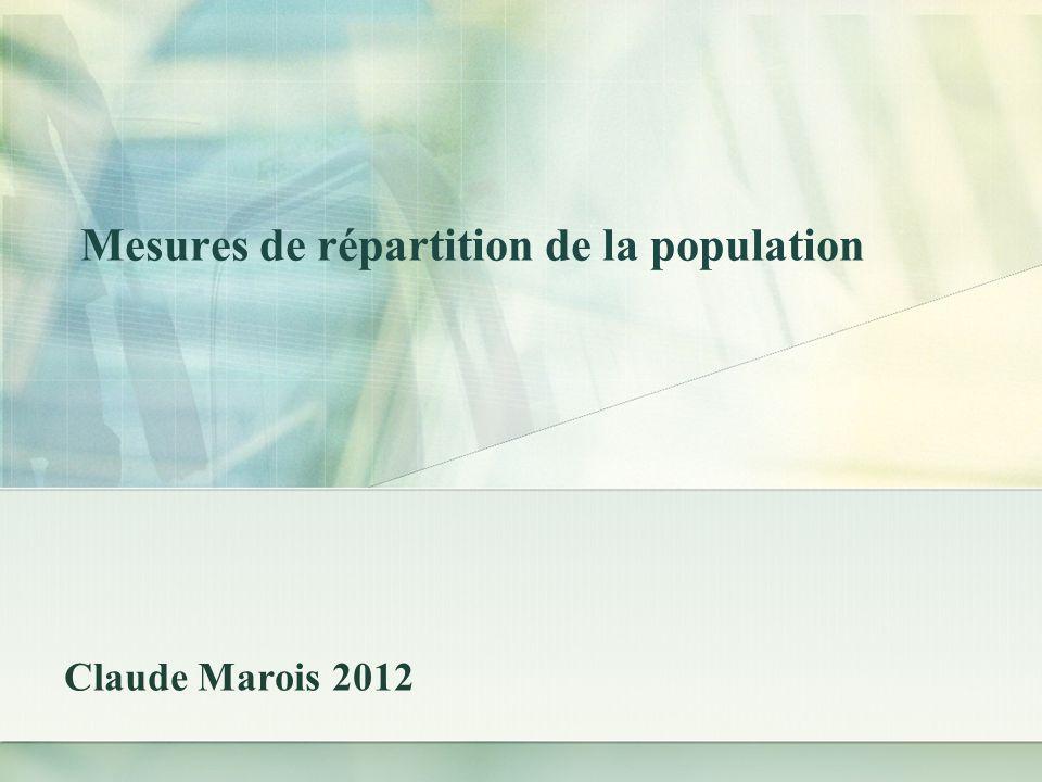 Quotient de localisation Les données du recensement de 1986: P = 1 788 000Pj = 1 015 400 Pi = 135 000Pij = 51 500 Alors Ql = (51.5/1015.4 = 0.6715 (135.0/1788.0) le groupe est sous-représenté