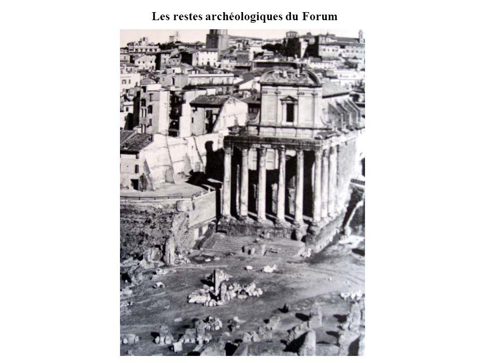 Les restes archéologiques du Forum