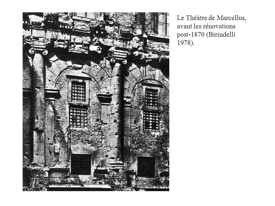 Le Théâtre de Marcellus, avant les rénovations post-1870 (Birindelli 1978).