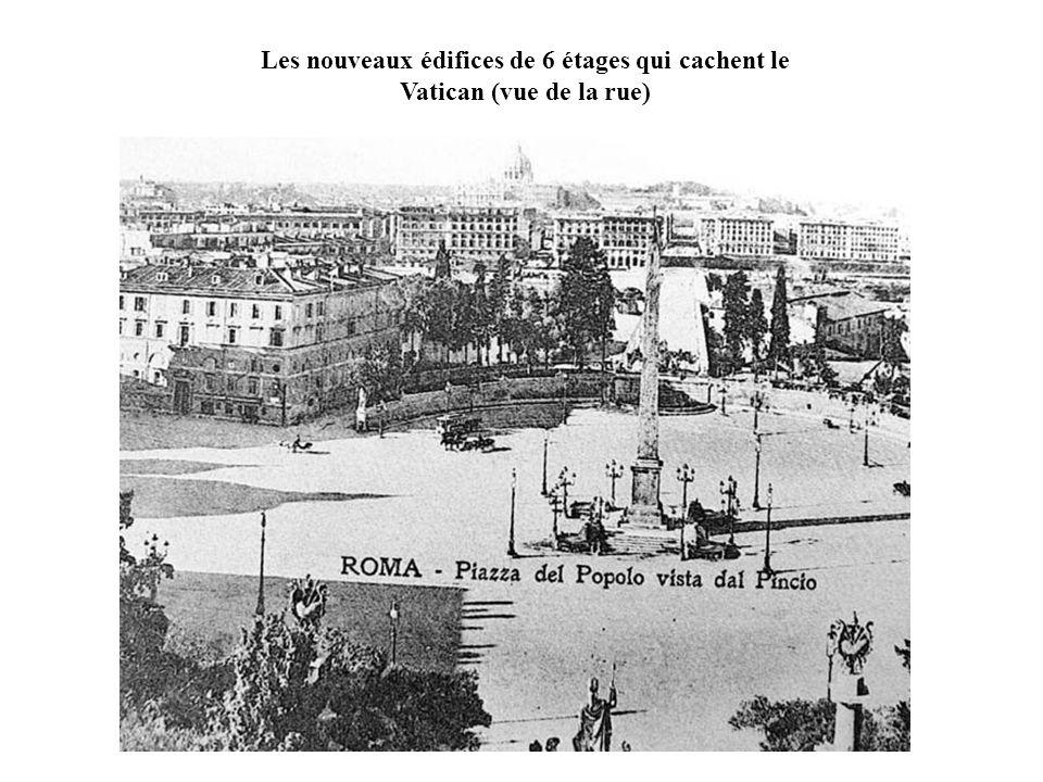 Les nouveaux édifices de 6 étages qui cachent le Vatican (vue de la rue)
