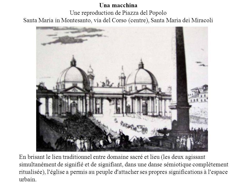 Una macchina Une reproduction de Piazza del Popolo Santa Maria in Montesanto, via del Corso (centre), Santa Maria dei Miracoli En brisant le lien trad