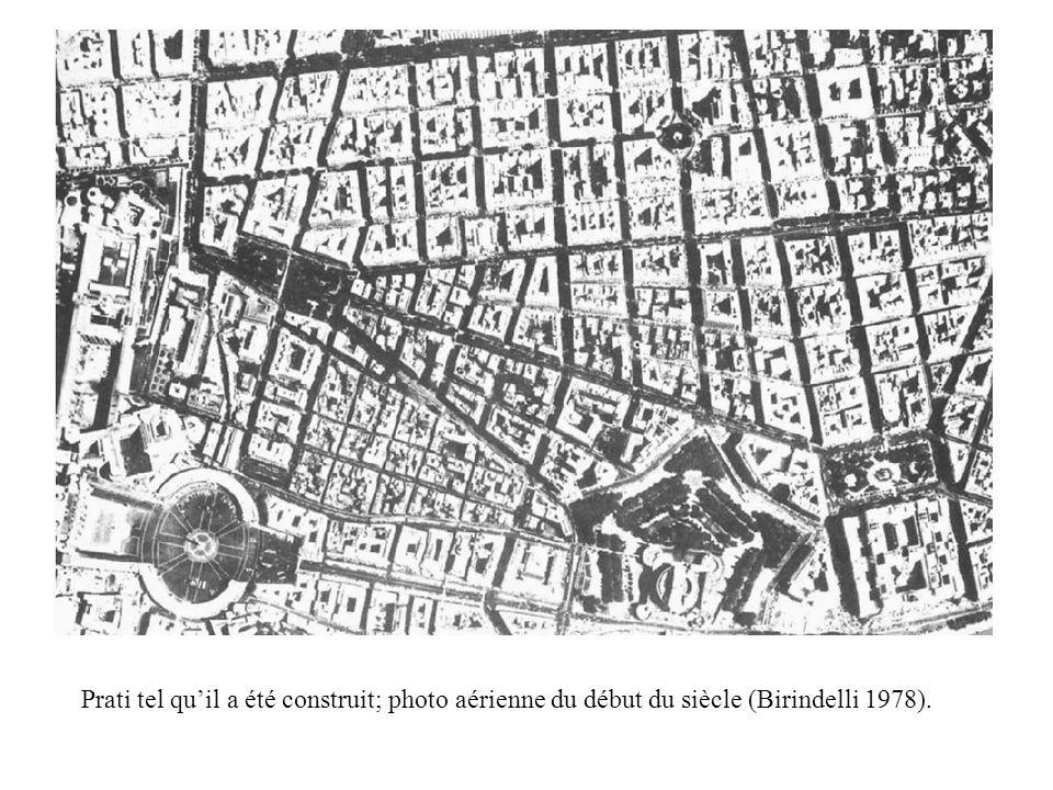 Prati tel quil a été construit; photo aérienne du début du siècle (Birindelli 1978).