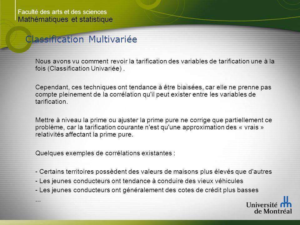 Faculté des arts et des sciences Mathématiques et statistique Modélisation GLM Exemple 2 : Suite...