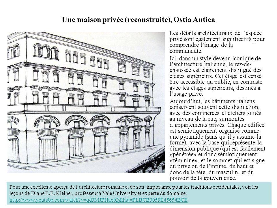 Une maison privée (reconstruite), Ostia Antica Les détails architecturaux de lespace privé sont également significatifs pour comprendre limage de la c