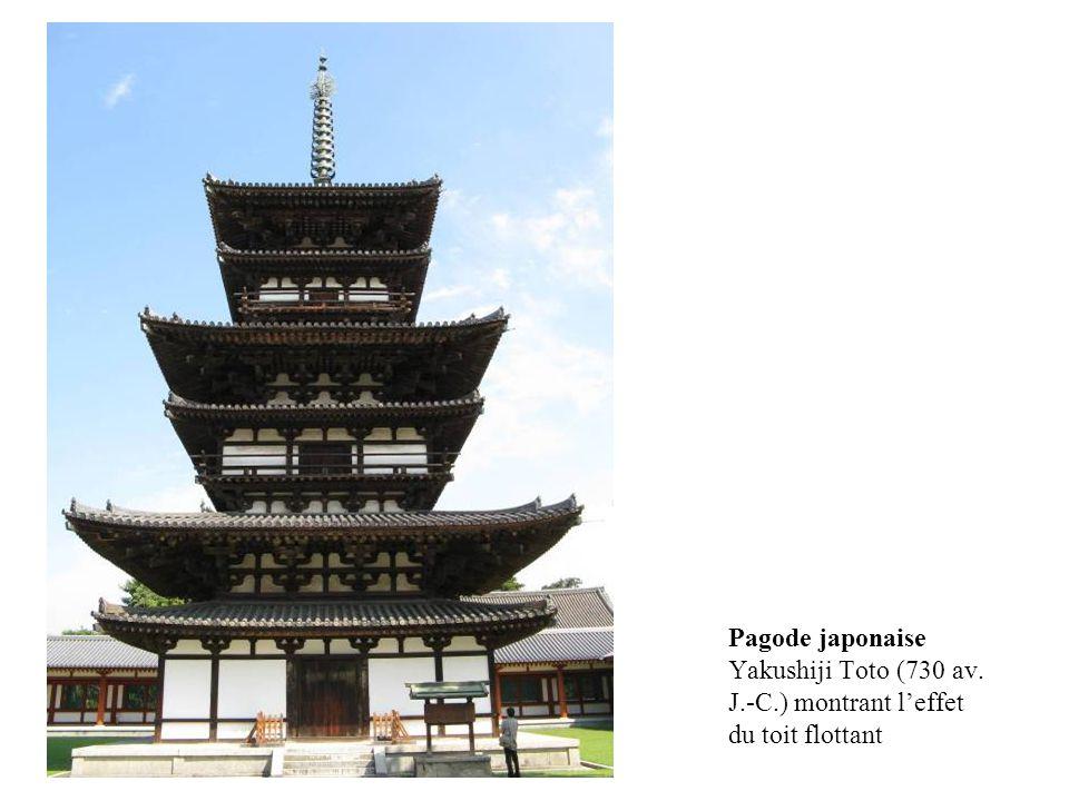 Pagode japonaise Yakushiji Toto (730 av. J.-C.) montrant leffet du toit flottant