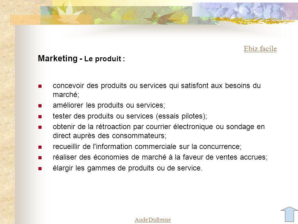 Aude Dufresne Les processus du marketing Internet L Internet est un média efficace de collecte et de diffusion d information, et de soutien d une combinaison de processus de marketing.