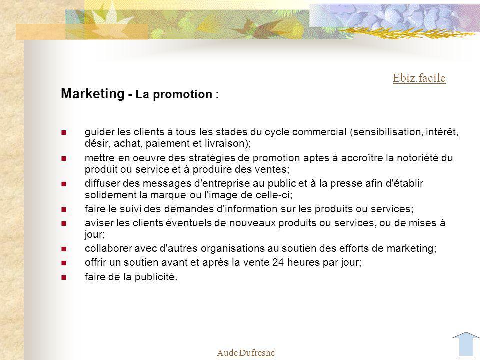 Aude Dufresne Atelier - Quy a-t-il dans un site commercial.