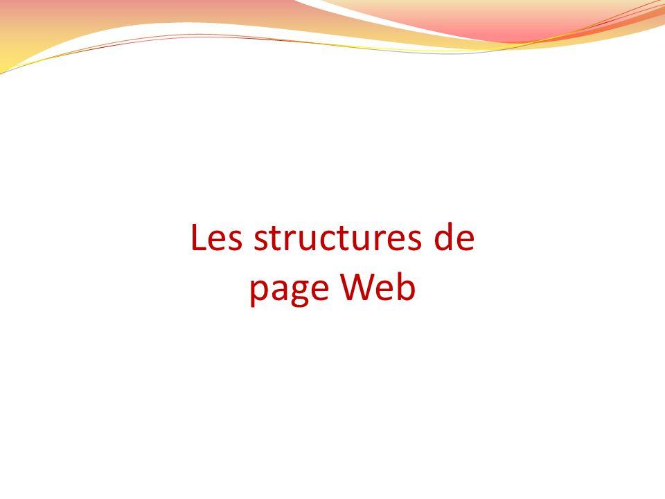 Les structures de page Web