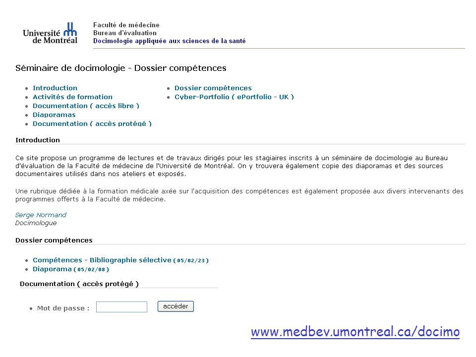 www.medbev.umontreal.ca/docimo