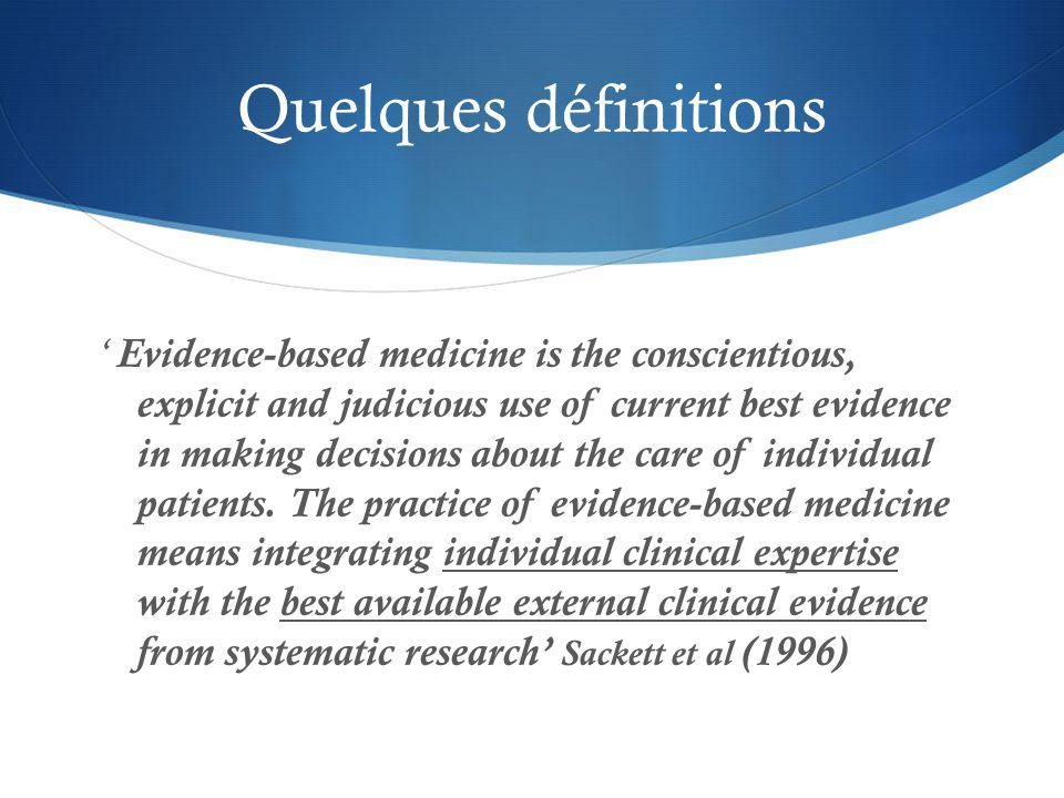 Evidence-based practice (EBP) requires you to read the right paper at the right time and then to alter your behaviour (and the one of others..) in light of what you have found Greenhalgh (1997) EBP is the process of systematically finding, appraising and using contemporaneous research findings as the basis for clinical decisions.