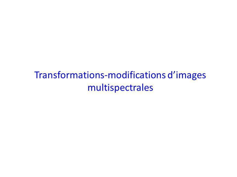 Transformations-modifications dimages multispectrales