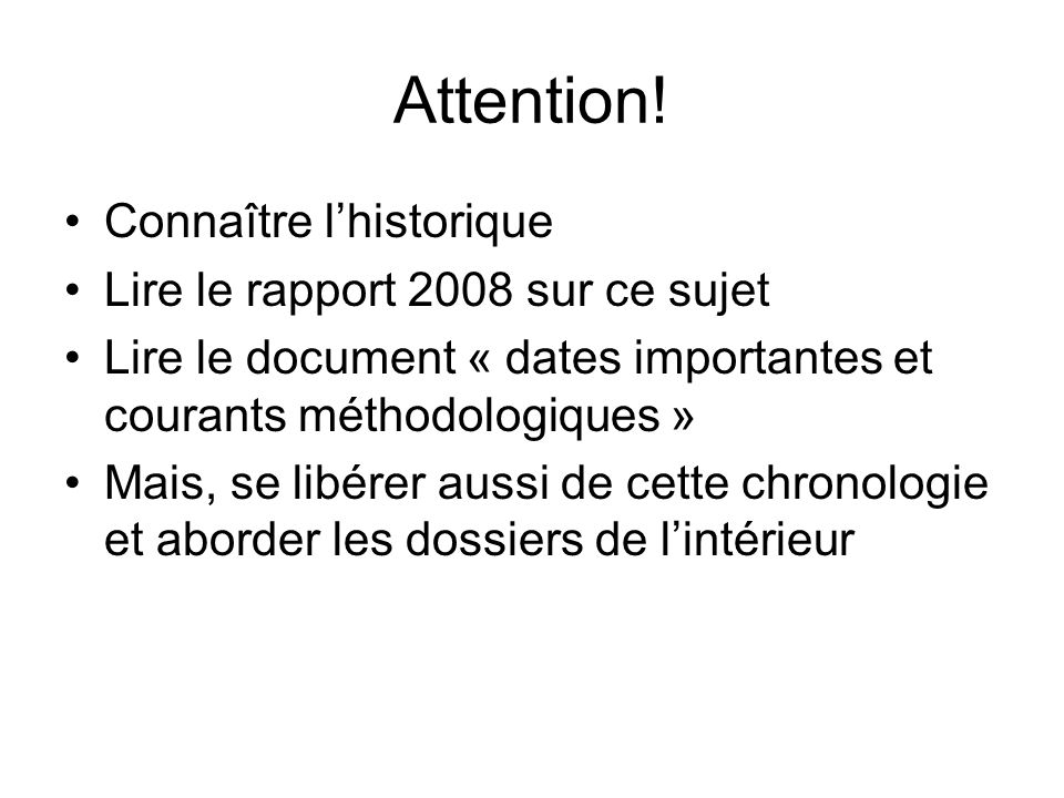 Attention.