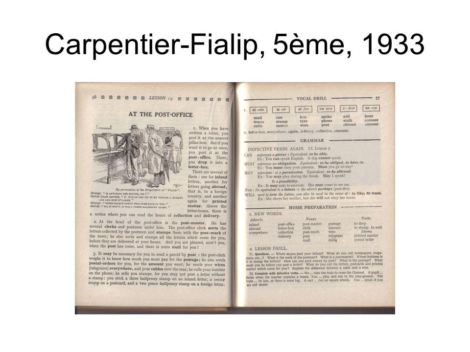 Carpentier-Fialip, 5ème, 1933