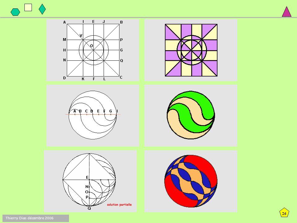 25 Thierry Dias décembre 2006 Trace un cercle de centre A et de 3,5 cm de rayon. Trace un cercle de 3,5 cm de rayon et qui passe par le point A. Place