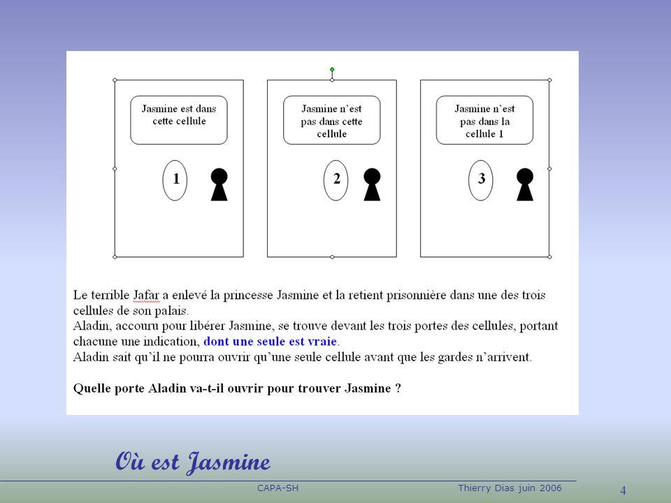 4 CAPA-SHThierry Dias juin 2006 Où est Jasmine