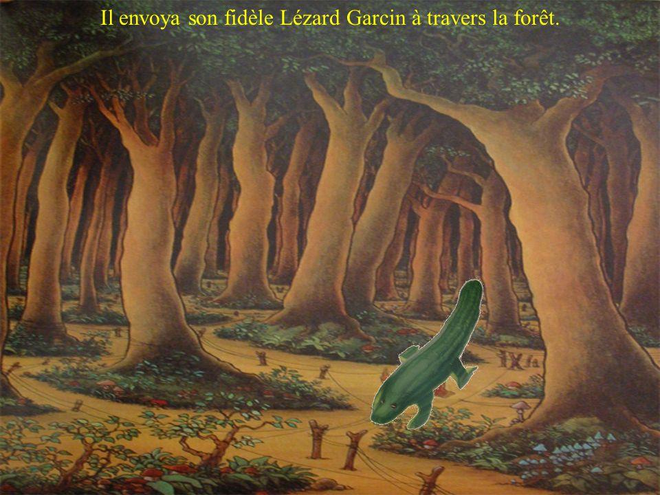 Il envoya son fidèle Lézard Garcin à travers la forêt.