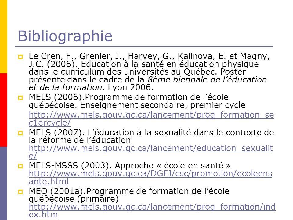 Bibliographie Le Cren, F., Grenier, J., Harvey, G., Kalinova, E.
