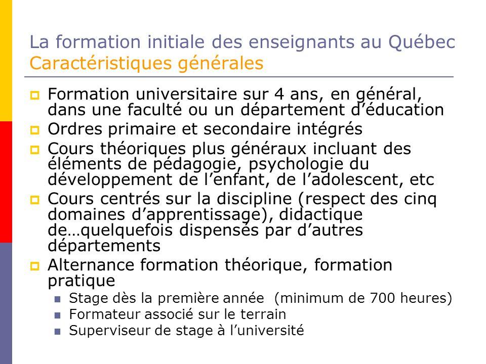 La formation initiale des enseignants au Québec Douze compétences professionnelles (MEQ, 2001b) 1.