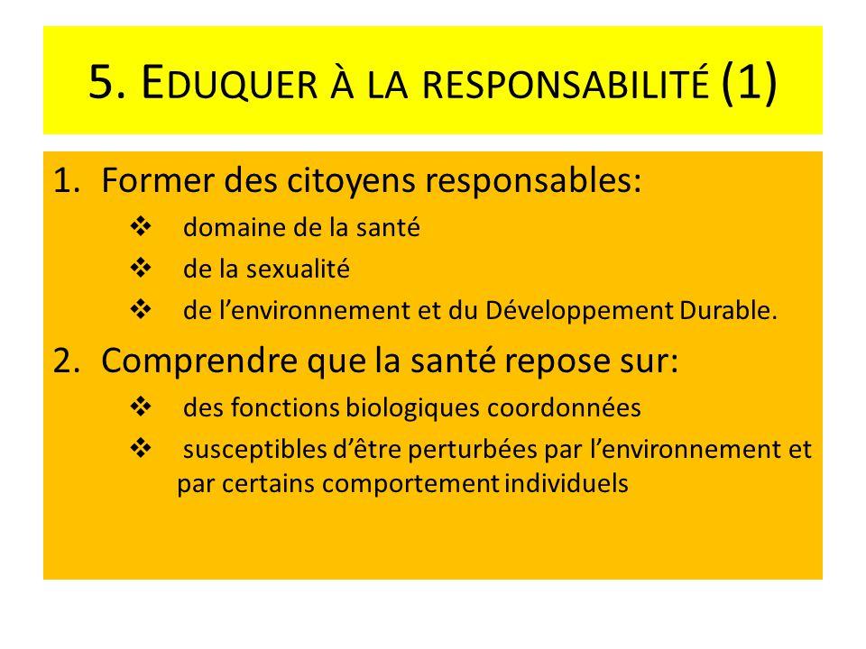 5.E DUQUER À LA RESPONSABILITÉ (2) 3.