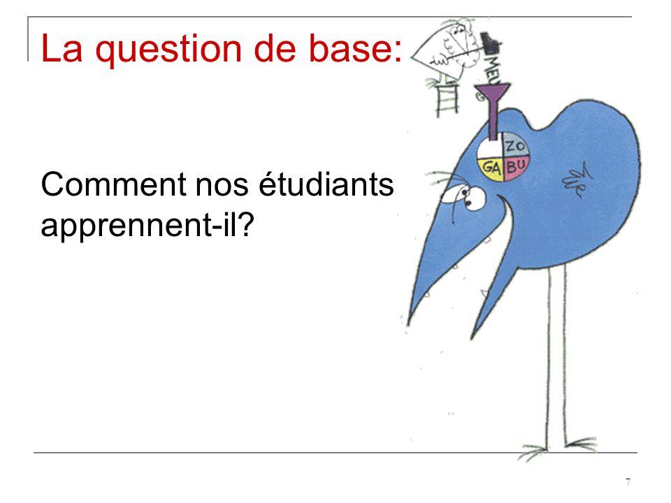 7 La question de base: Comment nos étudiants apprennent-il?