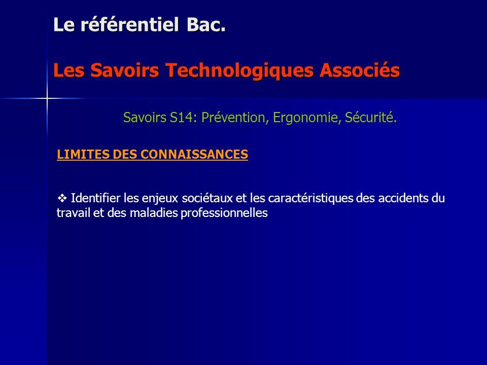 NIVEAU DACQUISITION : 1 : En être informé et/ou en avoir vu une application Le référentiel Bac.