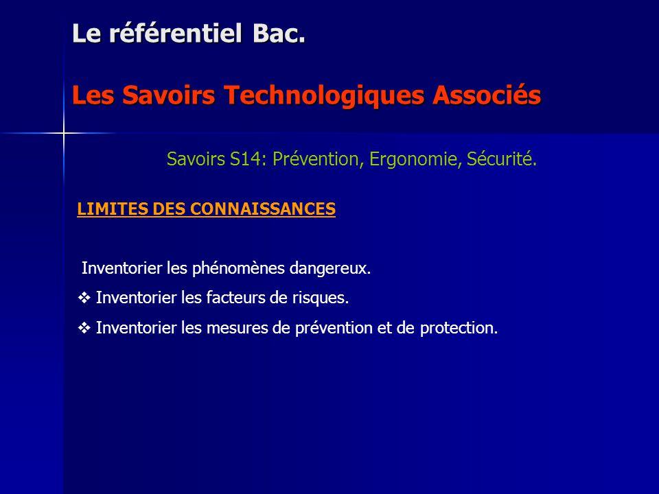 NIVEAU DACQUISITION : 5 : Lavoir assimilé totalement et être capable de lutiliser dans des situations différentes (transfert) Le référentiel Bac.