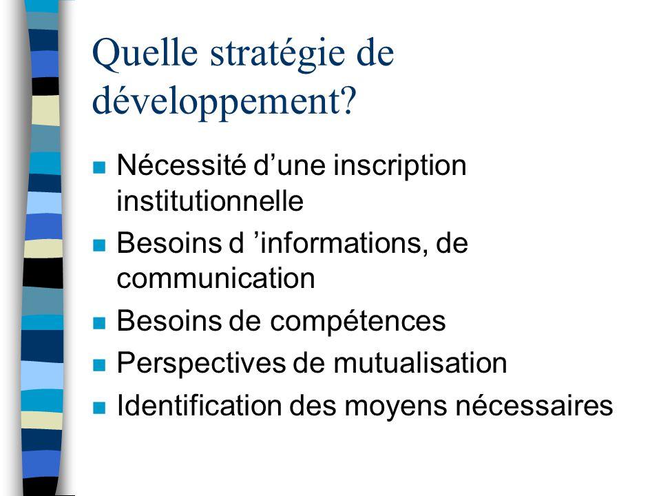 Quelle stratégie de développement.
