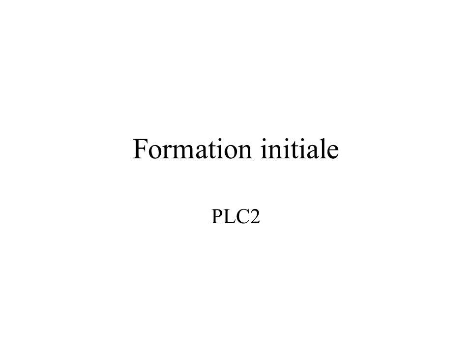 Formation initiale PLC2