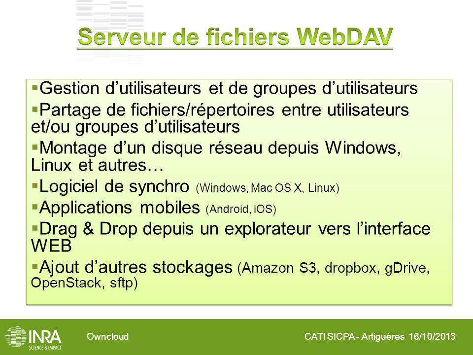 CATI SICPA - Artiguères 16/10/2013Owncloud