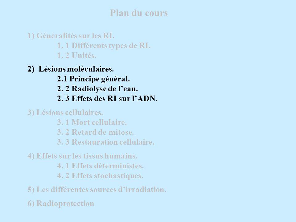 5) Les différentes sources dirradiation.