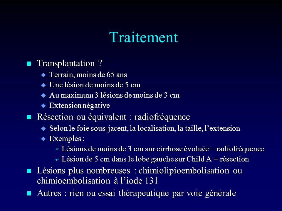 Traitement n Transplantation .