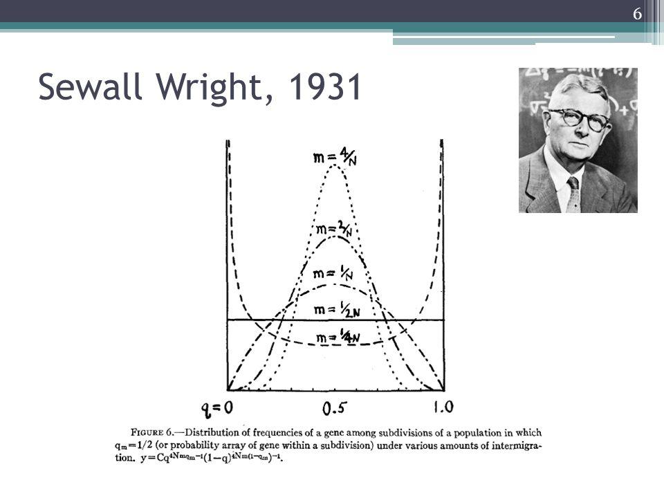 Sewall Wright, 1931 6