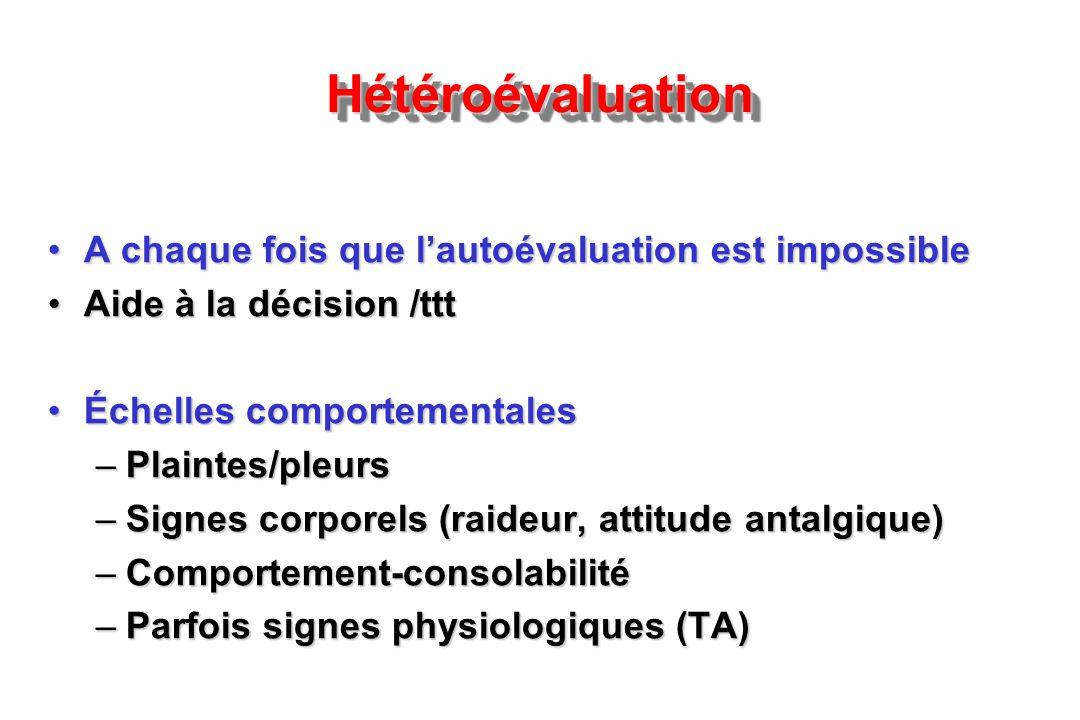 HétéroévaluationHétéroévaluation A chaque fois que lautoévaluation est impossibleA chaque fois que lautoévaluation est impossible Aide à la décision /