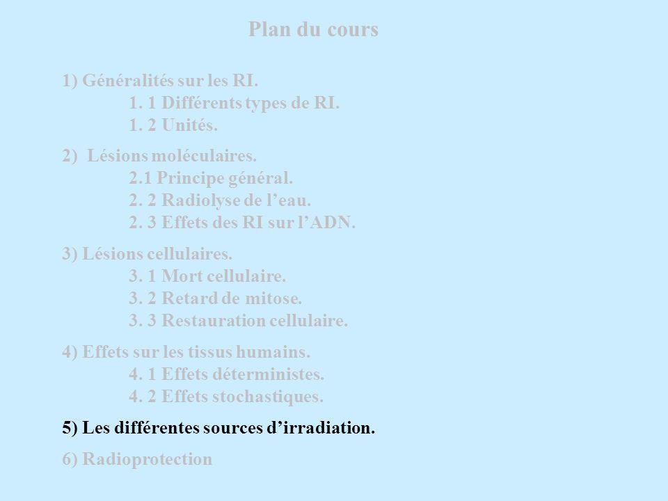 Plan du cours 1) Généralités sur les RI.1. 1 Différents types de RI.