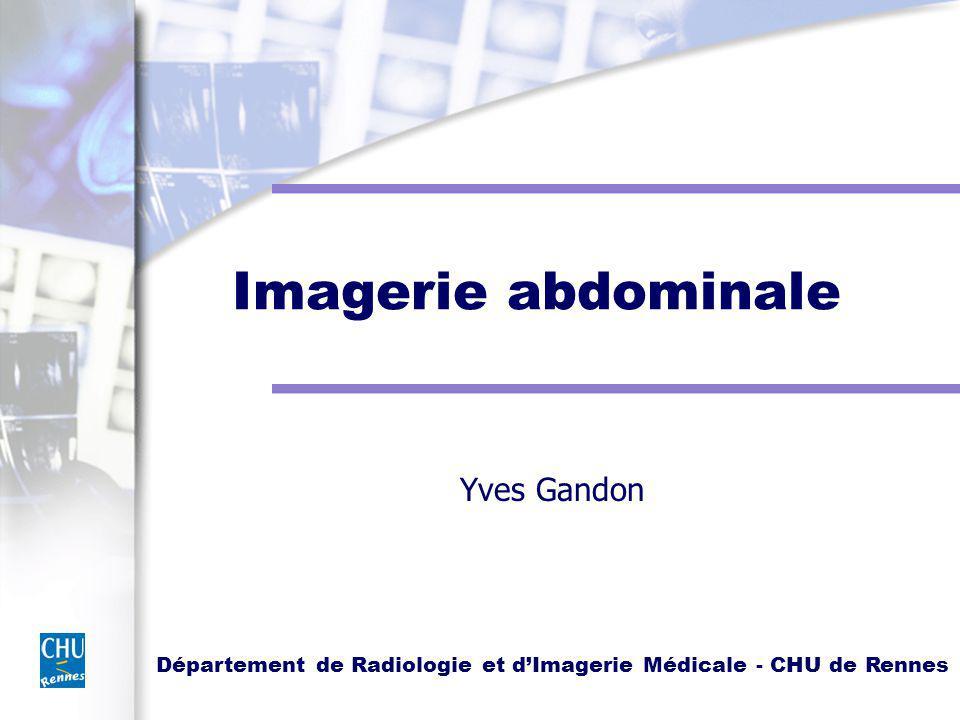 Département de Radiologie et dImagerie Médicale - CHU de Rennes Imagerie abdominale Yves Gandon
