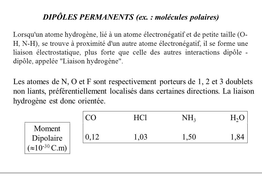 PCEM1 – Biophysique- 8 - DIPÔLES PERMANENTS (ex.
