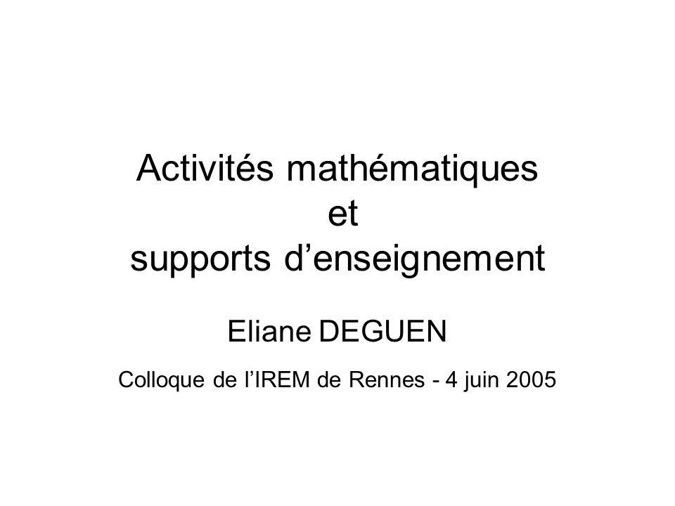 Lévolution des programmes de collège 1985 - 2005