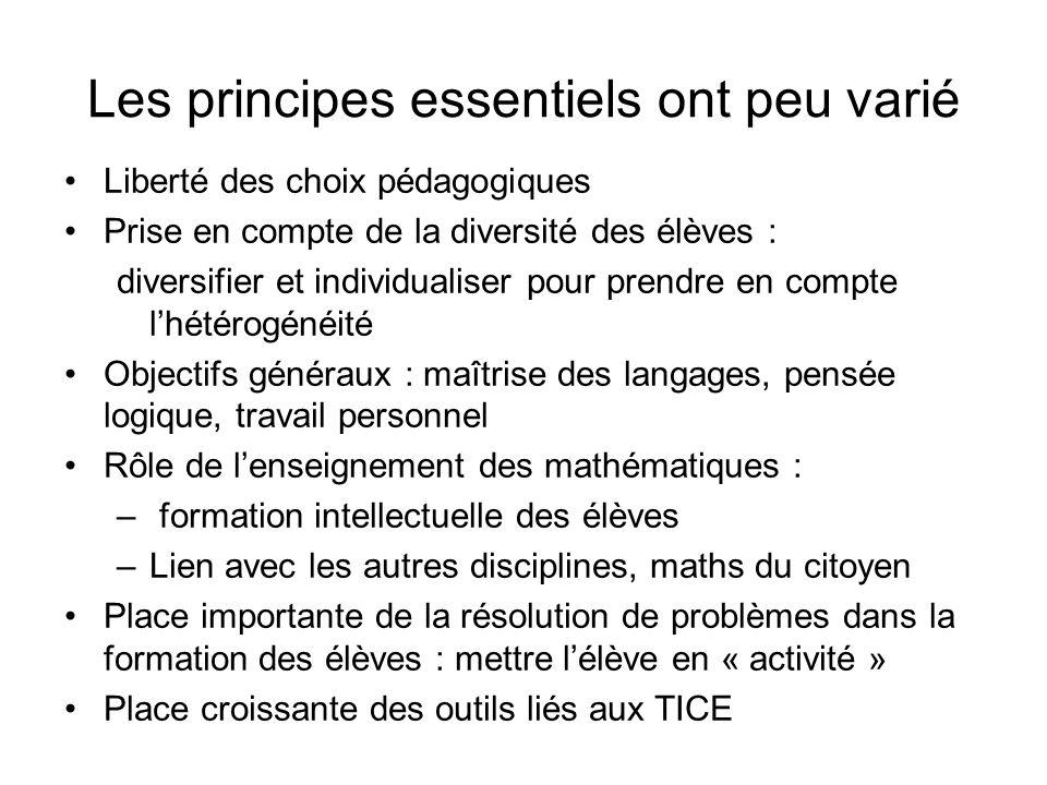 En 2005, une introduction consistante pour expliciter les axes prioritaires