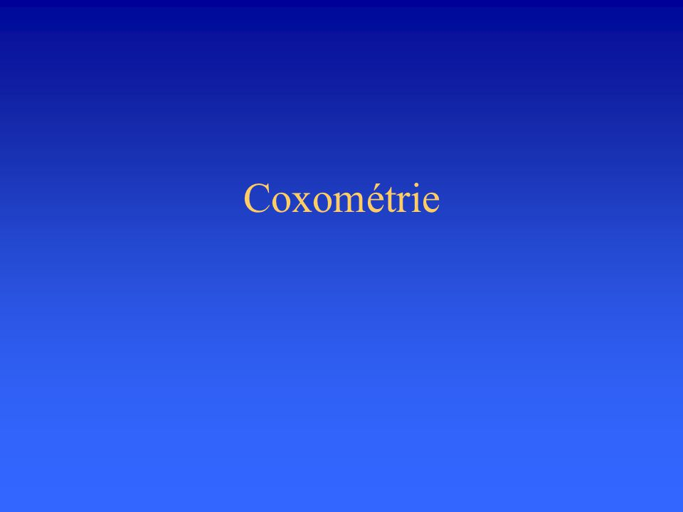 Coxométrie