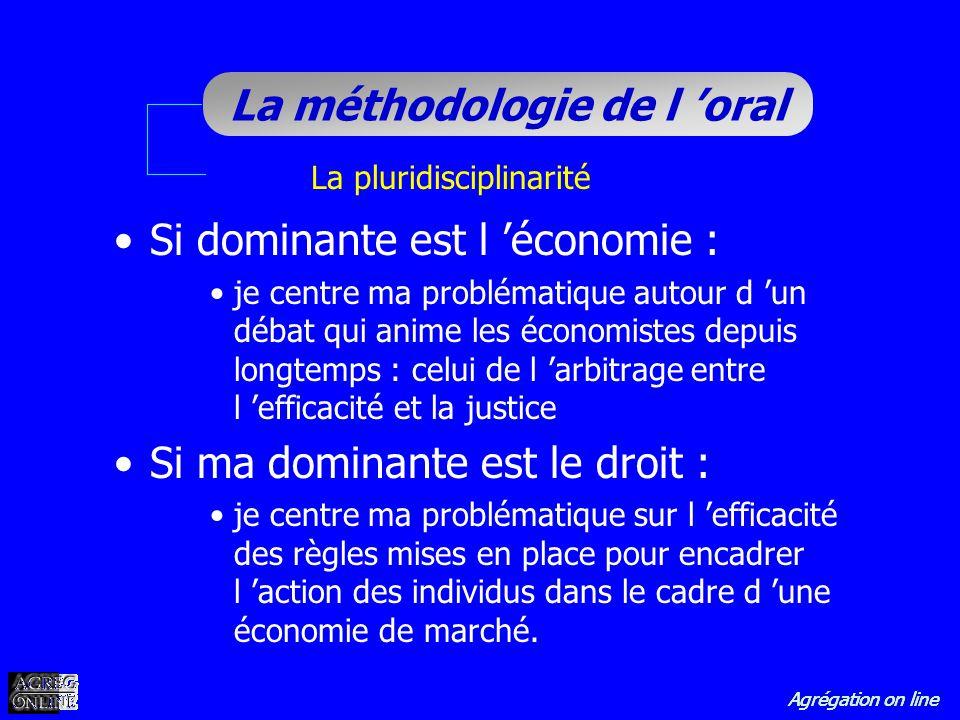 Agrégation on line La méthodologie de l oral Si dominante est l économie : je centre ma problématique autour d un débat qui anime les économistes depu