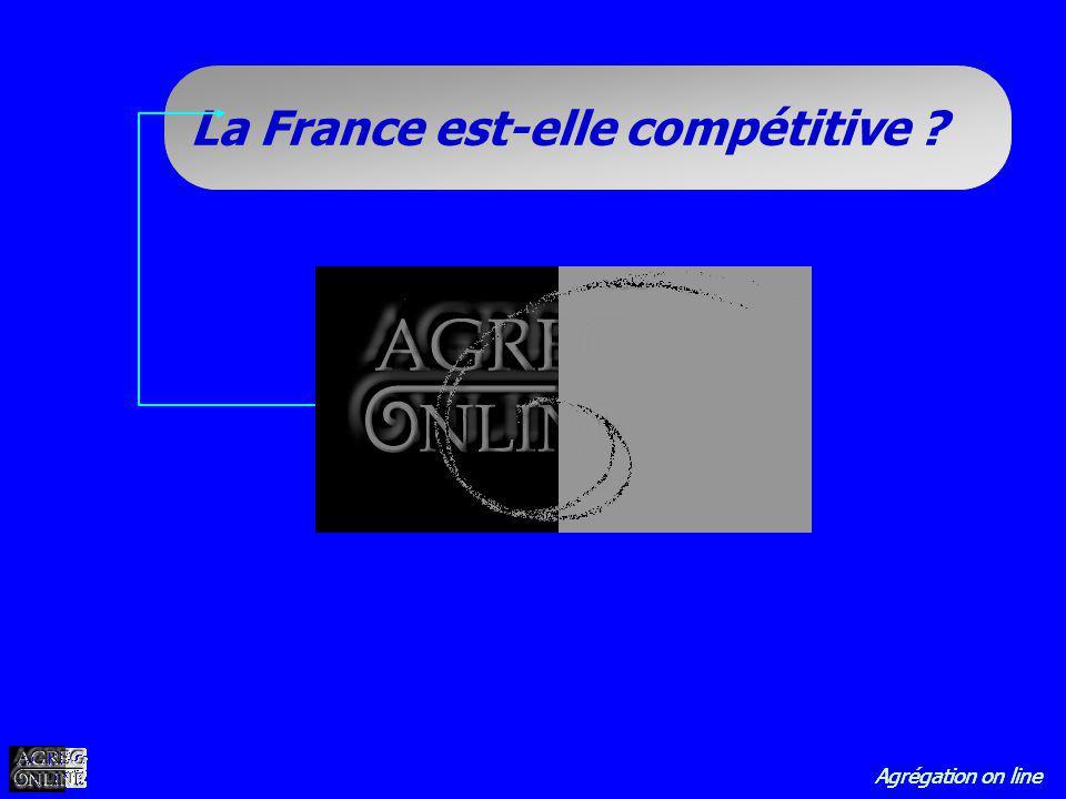 Agrégation on line La France est-elle compétitive ?