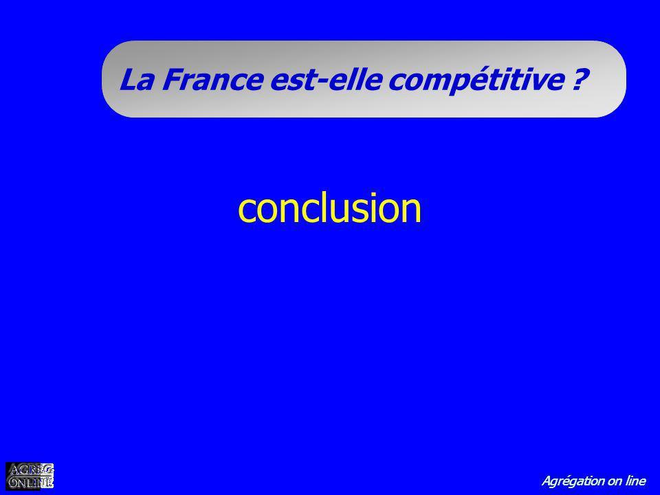 Agrégation on line La France est-elle compétitive ? conclusion