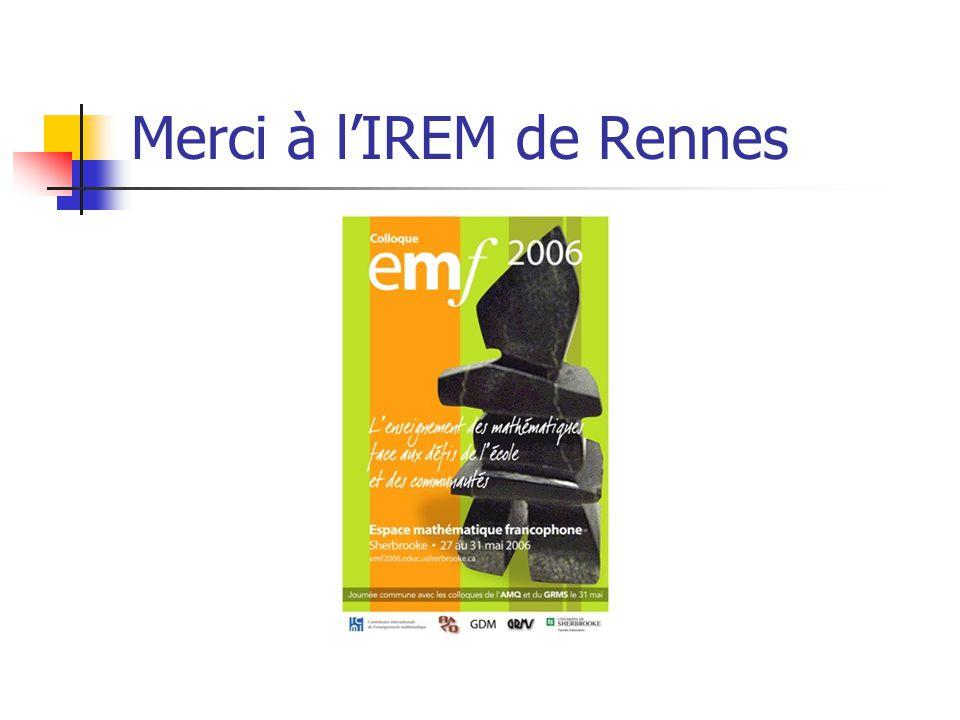 Merci à lIREM de Rennes