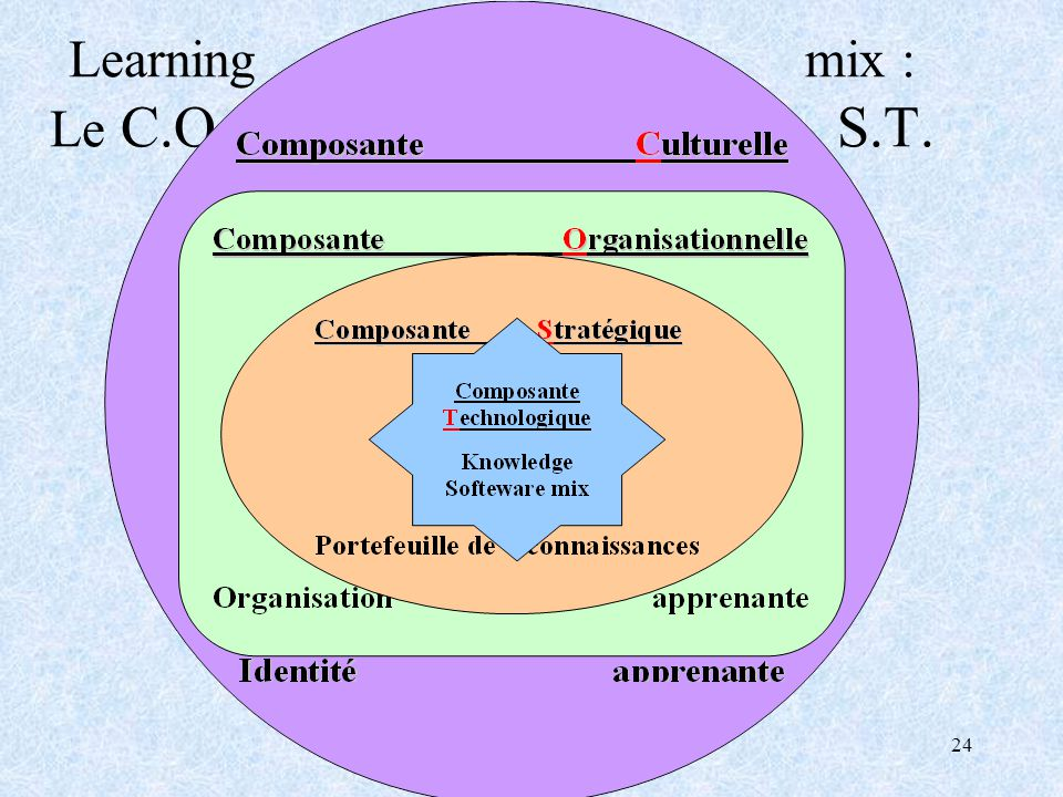 24 Learning mix : Le C.O. S.T.