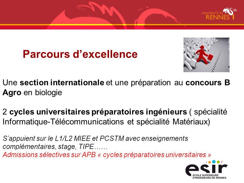Une section internationale et une préparation au concours B Agro en biologie 2 cycles universitaires préparatoires ingénieurs ( spécialité Informatiqu